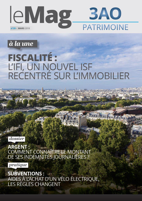 Une mag 29 | IFI, nouvel ISF recentré sur l'immobilier