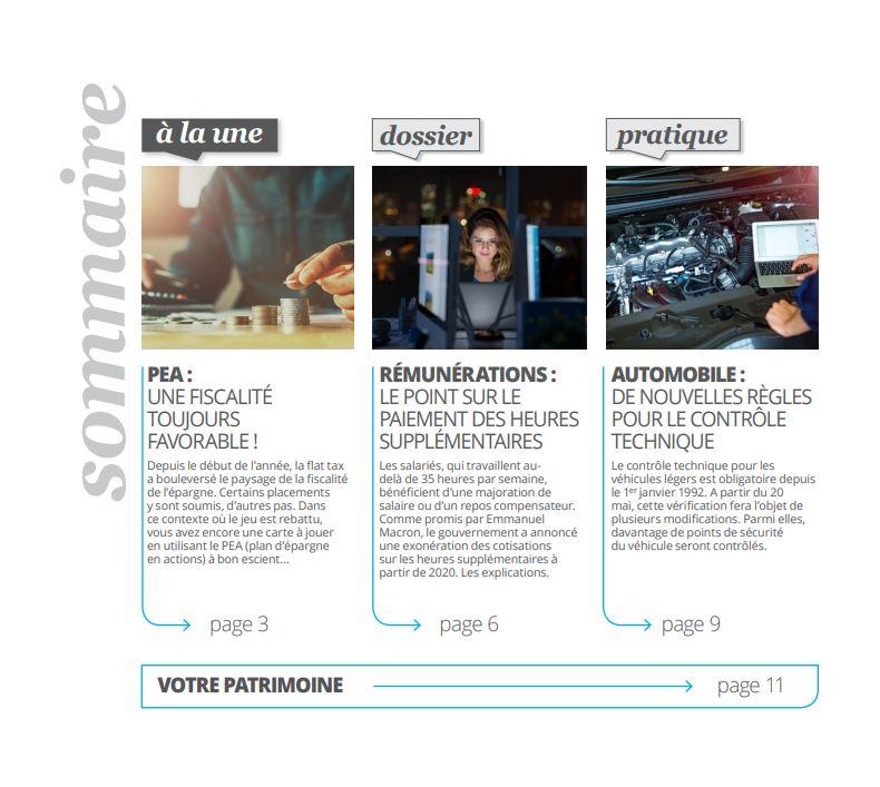 Magazine - PEA , rémunération, automobile